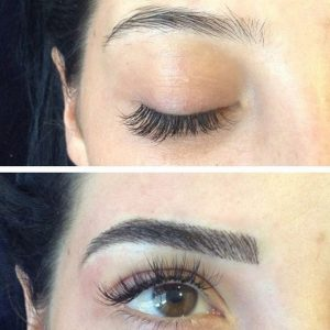 eyebrow microblading blonde hair. before-after-microblading-eyebrow-tattoos eyebrow microblading blonde hair